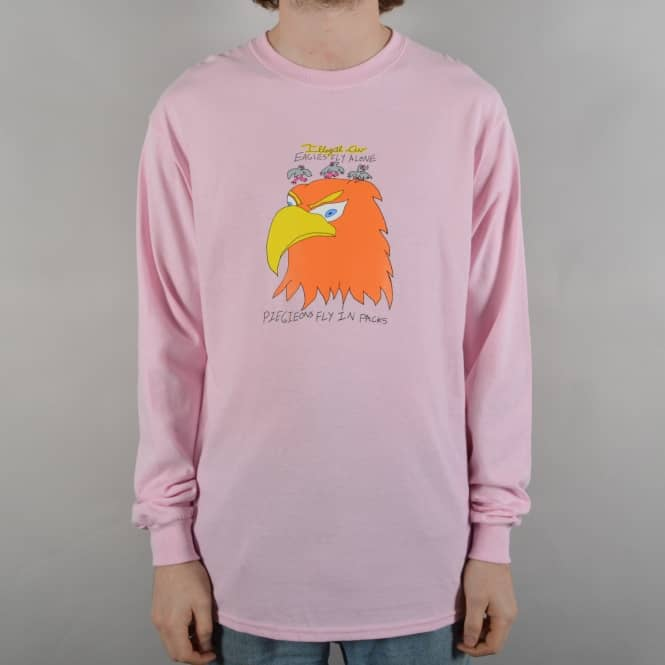 Illegal Civilisation Pigeon Longsleeve T-Shirt - Pink
