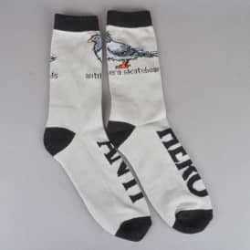 Pigeon Socks - Cool Grey/Black