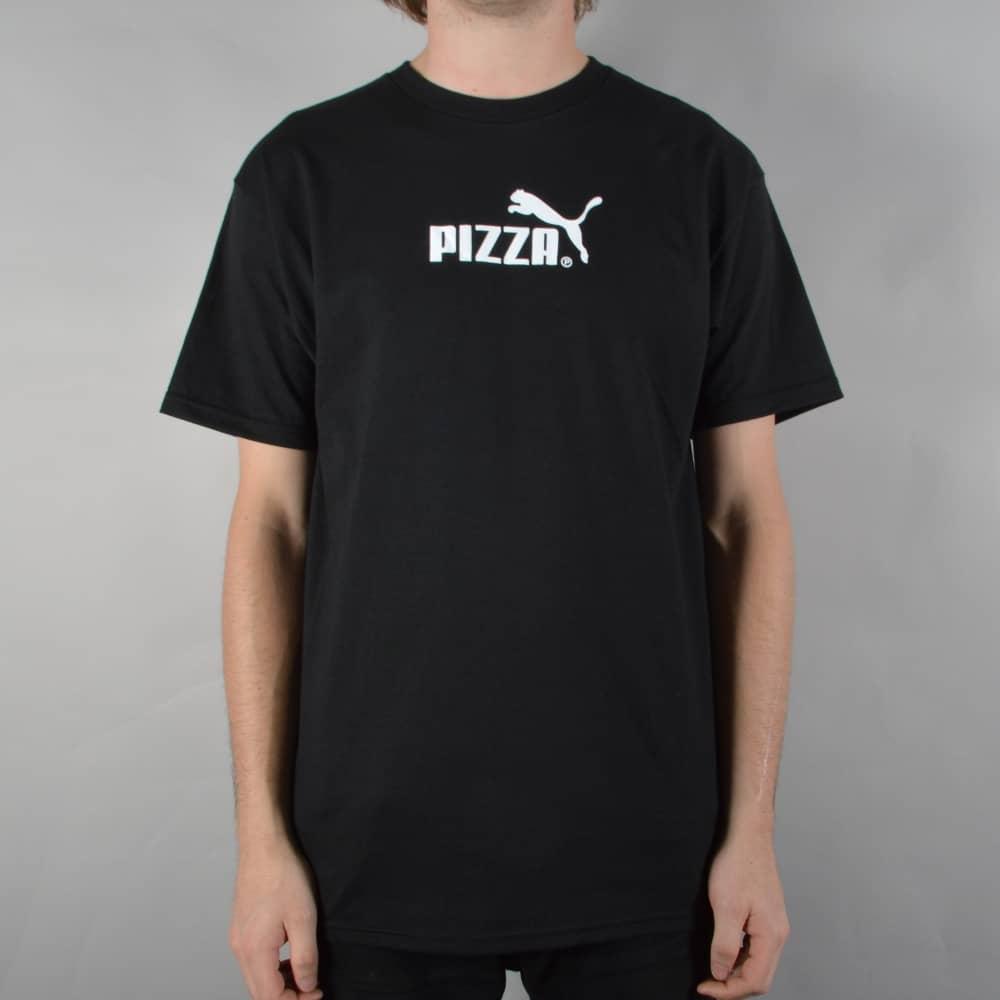 e78c58c3461 Pizza Skateboards Cat Skate T-Shirt - Black - SKATE CLOTHING from ...
