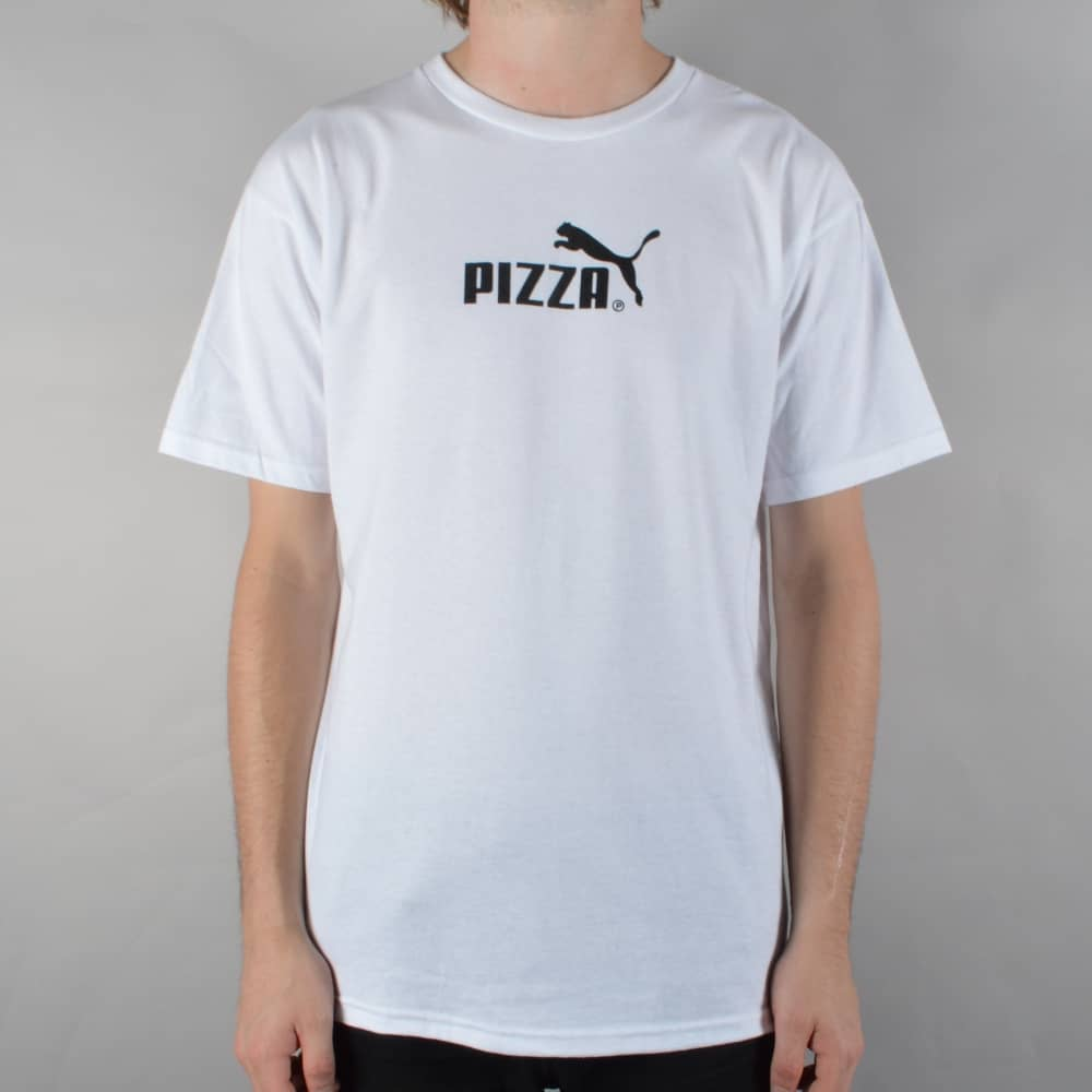 a8fa269ab Pizza Skateboards Cat Skate T-Shirt - White - SKATE CLOTHING from ...