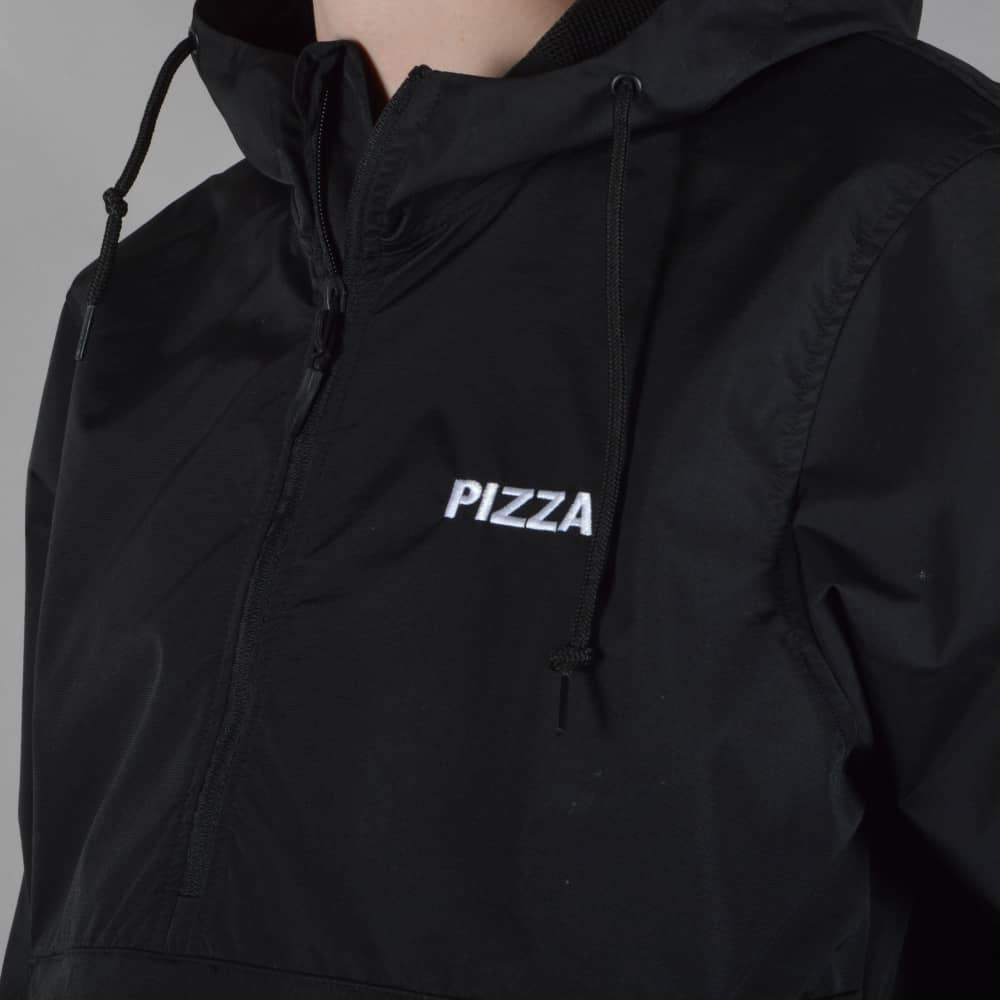 8dea3fb38 Pizza Skateboards Logo 1/4 Zip Anorak Jacket - Black