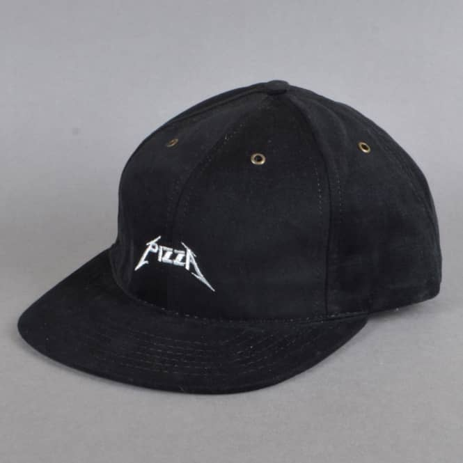 Pizza Skateboards Metal Strapback Cap - Black