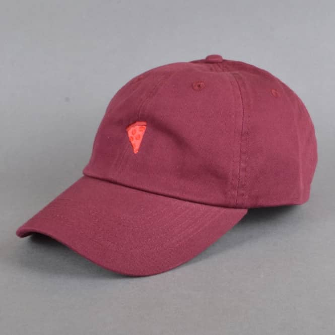 Pizza Skateboards Monochrome Emoji Strapback Cap - Burgundy