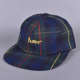 Plaid 6 Panel Cap - Navy/Green
