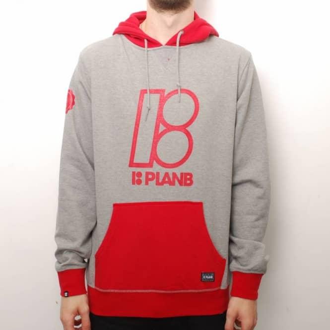 Plan b skateboards plan b alma mater skate hoodie grey for Alma mater t shirts