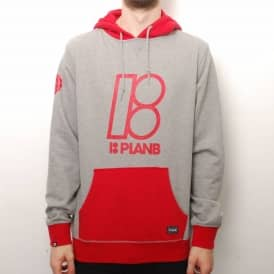 Plan B Skateboards Plan B Alma Mater Skate Hoodie - Grey/Red
