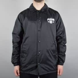 Plan B Skateboards Arch Coach Jacket - Black