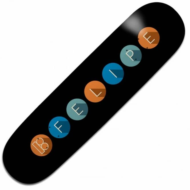 Plan B Skateboards Felipe Gustavo Subway Skateboard Deck 8.0''
