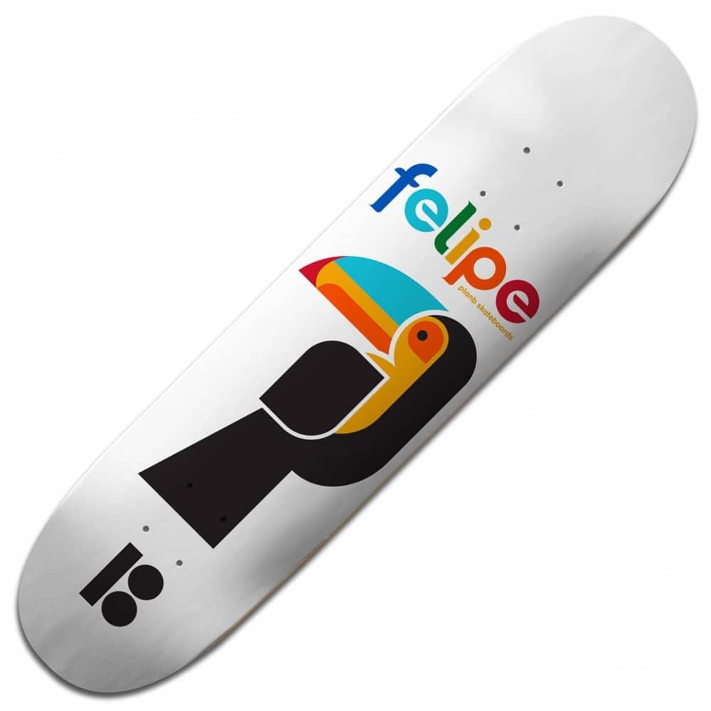 Plan B Skateboards Felipe Tucano BLK ICE Skateboard Deck 8 ...