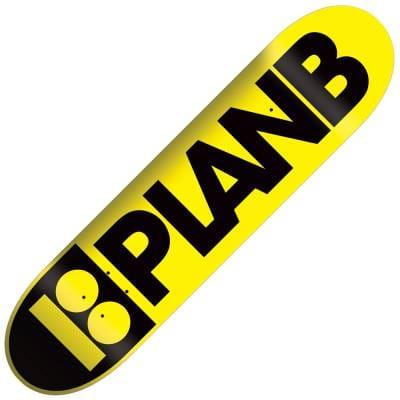 Plan B Skateboards Team Dayglow Yellow Skateboard