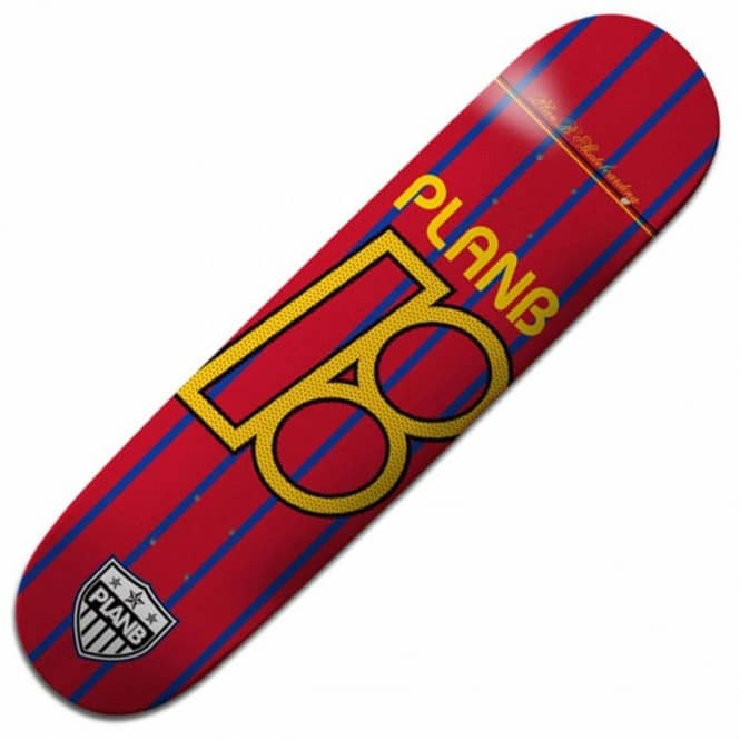 Plan B Skateboards Plan B Team United Red/Blue/Yellow Skateboard Deck 8.0''