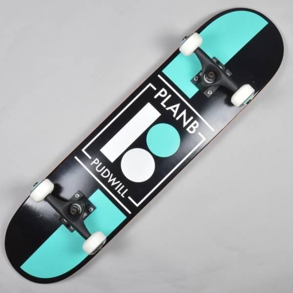 Plan B Skateboards Pudwill Checker Complete Skateboard 7 ...