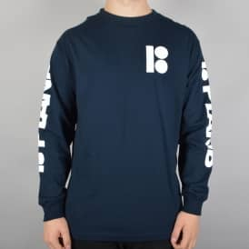 Plan B Skateboards Repeat Longsleeve Skate T-Shirt - Navy