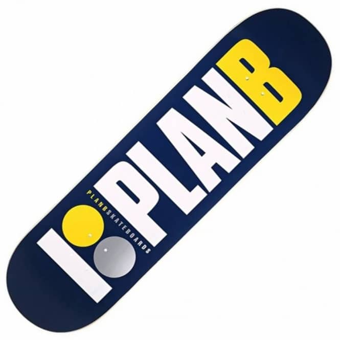 Plan B Skateboards Team OG Navy/Yellow Skateboard Deck 8.75''