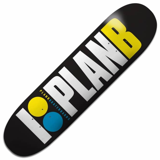 Plan B Skateboards Team OG Neon Skateboard Deck 7.75