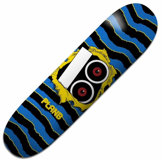 Plan B Skateboards Team Torn Yellow Skateboard Deck 8.75