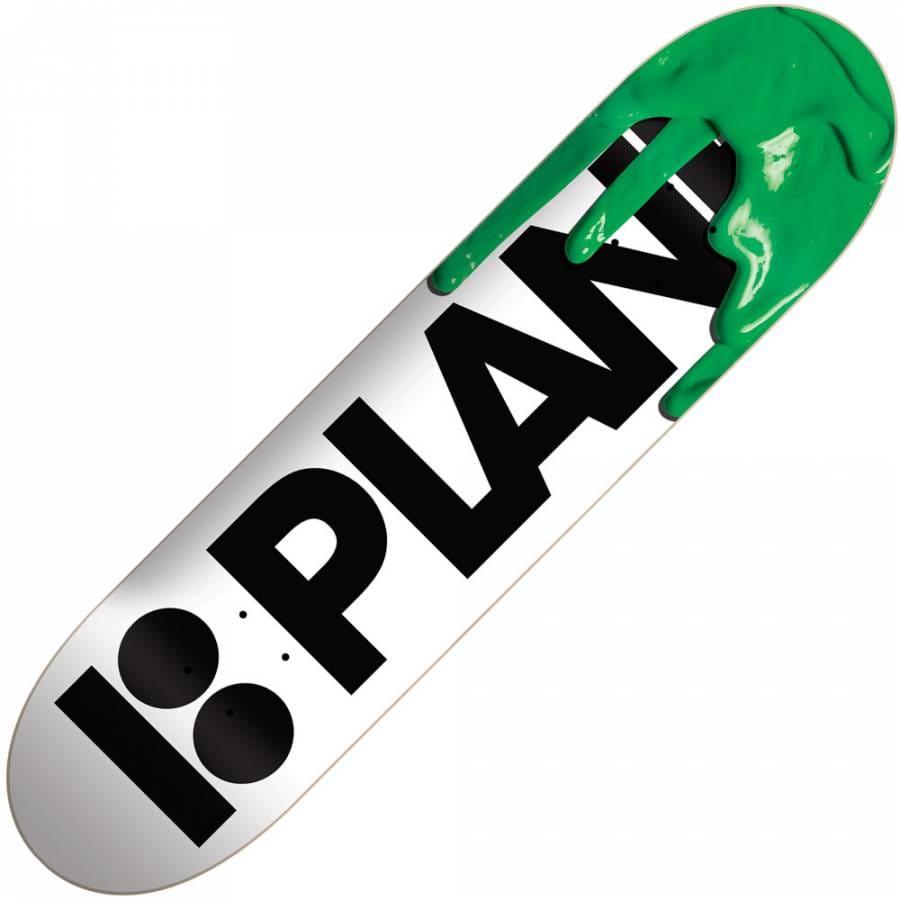 Plan B Skateboards Plan B Team Drips Green Skateboard Deck ...