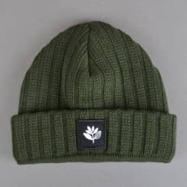 Plant Knitted Wool Beanie - Green