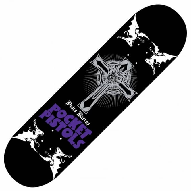Pocket Pistols Skateboards Pedro Barros Sabbath RTMF Skateboard Deck 8.5