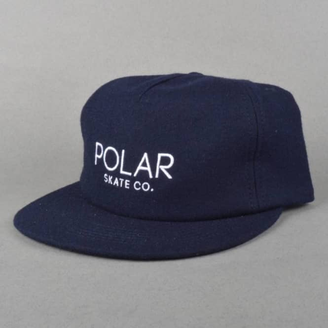 Polar Skateboards Polar Default Strapback Cap - Navy