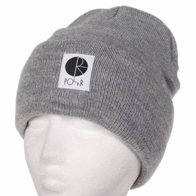 Polar Skateboards Polar Fold Up Skate Beanie - Heather Grey ... 12d5d3fd97b