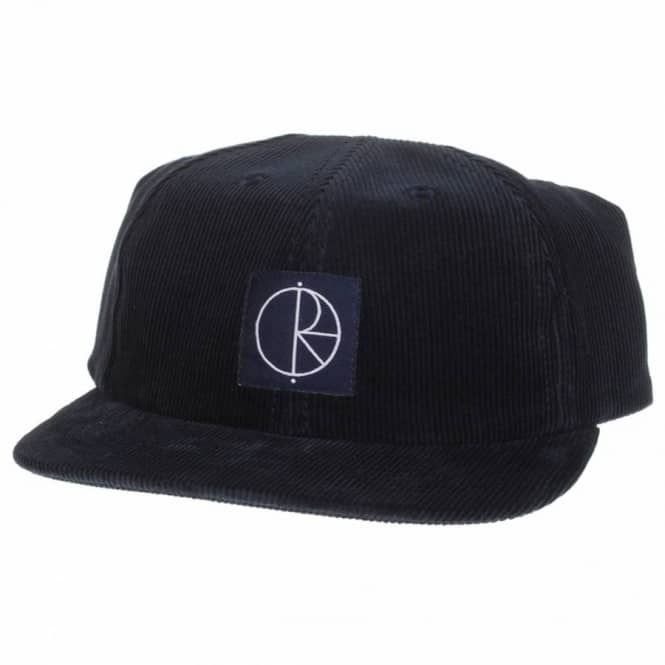 b80588b1ebb Polar Skateboards Polar Patch Logo 6 Panel Corduroy Cap - Navy ...