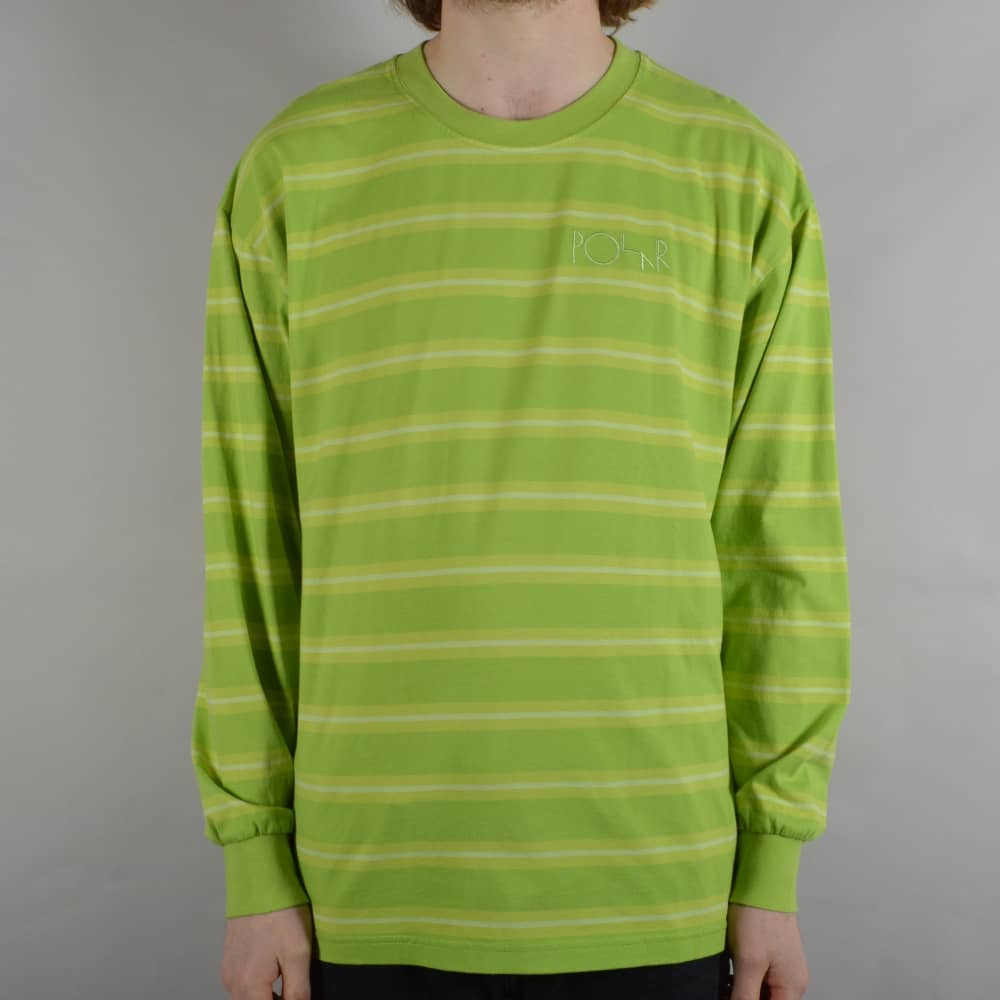 f336220979 Polar Skateboards 91 Striped Longsleeve T-Shirt - Apple Green ...