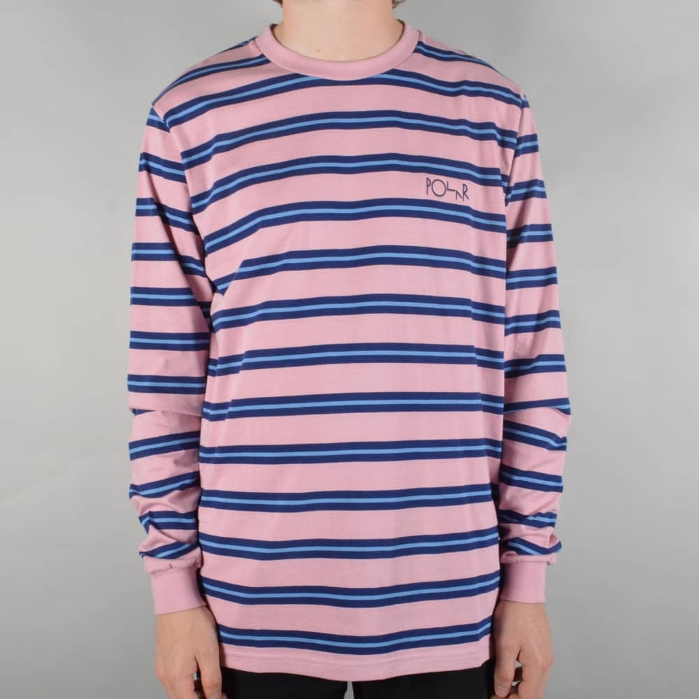 40d47c3435 Polar Skateboards 91 Striped Longsleeve T-Shirt - Dusty Rose - SKATE ...