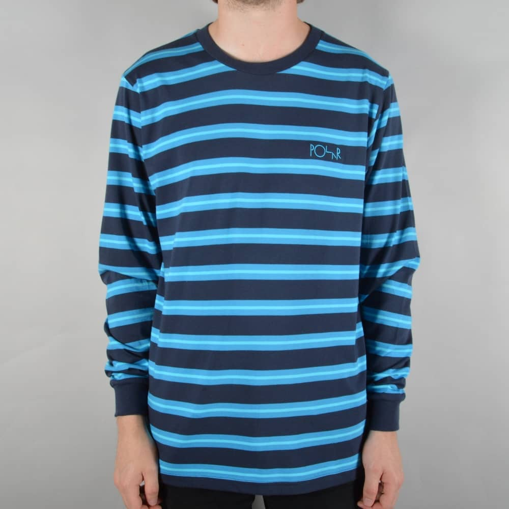 f77b9ba7b2 Polar Skateboards 91 Striped Longsleeve T-Shirt - Graphite - SKATE ...