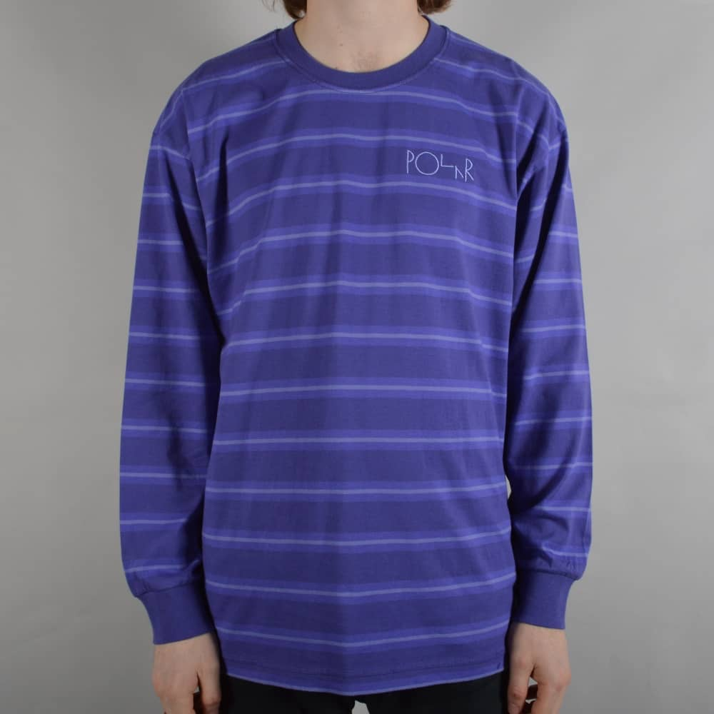 fdf3607d6c Polar Skateboards 91 Striped Longsleeve T-Shirt - Violet - SKATE ...