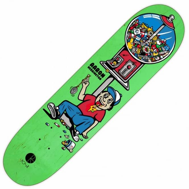 Polar Skateboards Aaron Herrington Candy Machine Skateboard Deck 8.125''