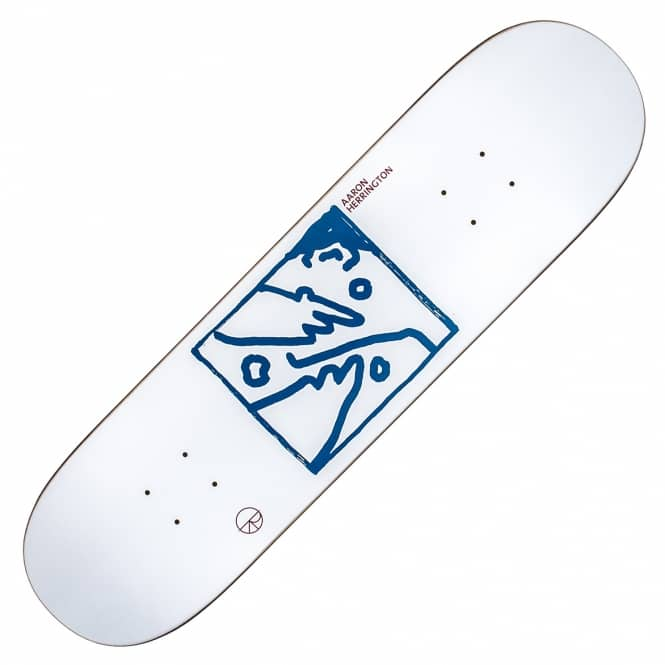 Polar Skateboards Aaron Herrington Doodle Face Skateboard Deck 8.25''