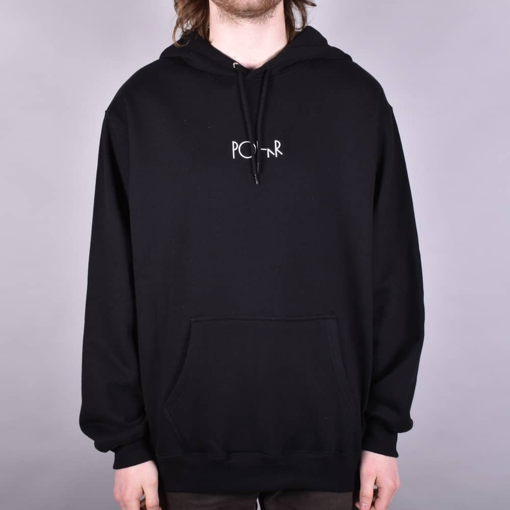 American Fleece Embroidered Pullover Hoodie - Black