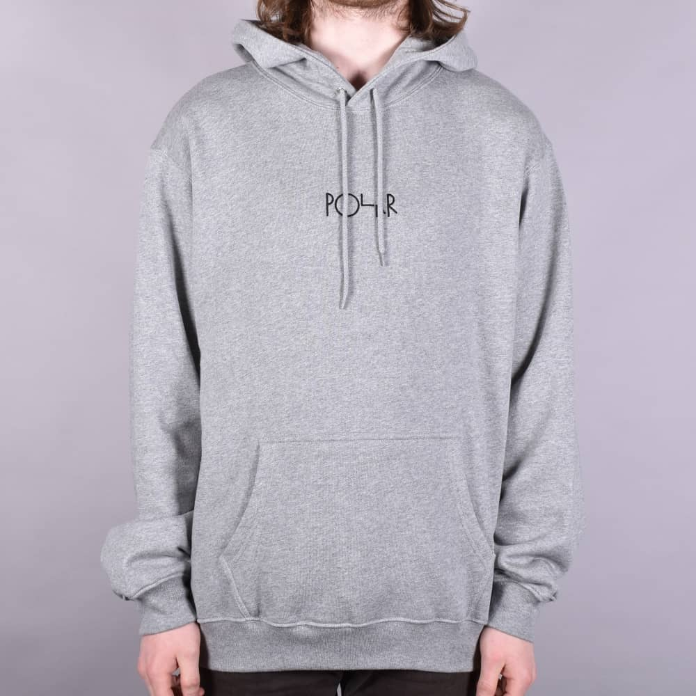 American Fleece Embroidered Pullover Hoodie - Grey Heather