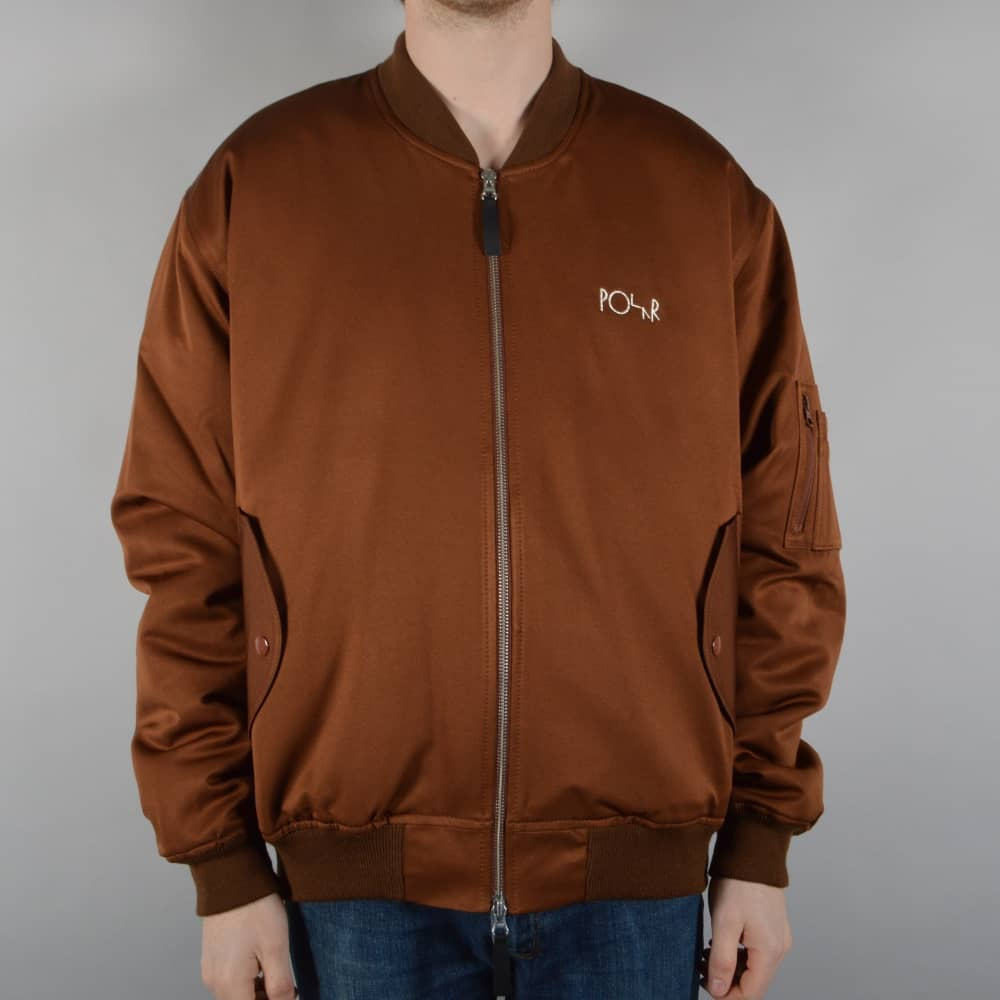 Polar Skateboards Bomber Jacket - Bronze - SKATE CLOTHING from ...