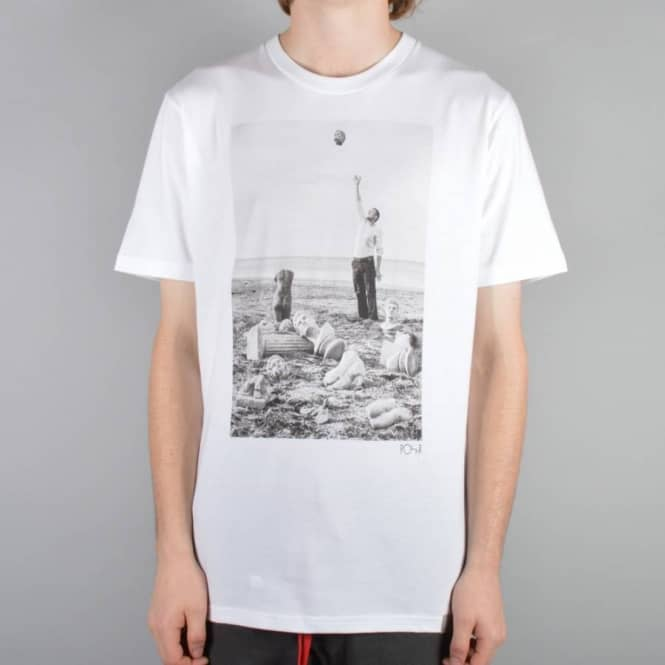 Polar Skateboards Carhartt WIP x Polar Titan T-Shirt - White