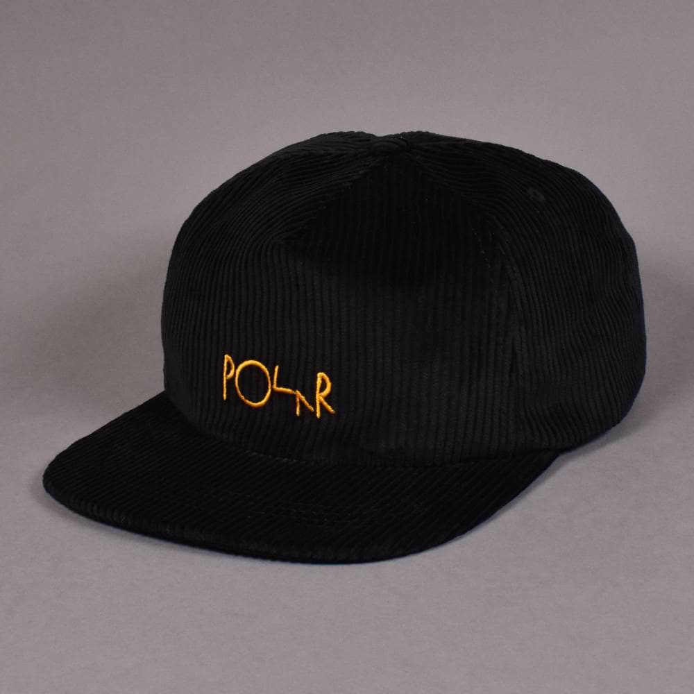 a00ce661cec2a Polar Skateboards Cord 5 Panel Cap - Black - SKATE CLOTHING from ...