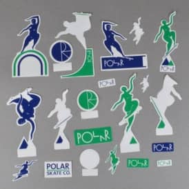Cut Out Sticker Pack - Green/Navy/White