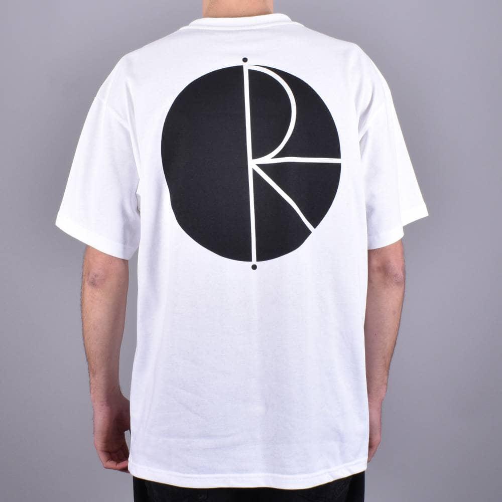 03e32d1f Polar Skateboards Fill Logo Skate T-Shirt - White/Black - SKATE ...