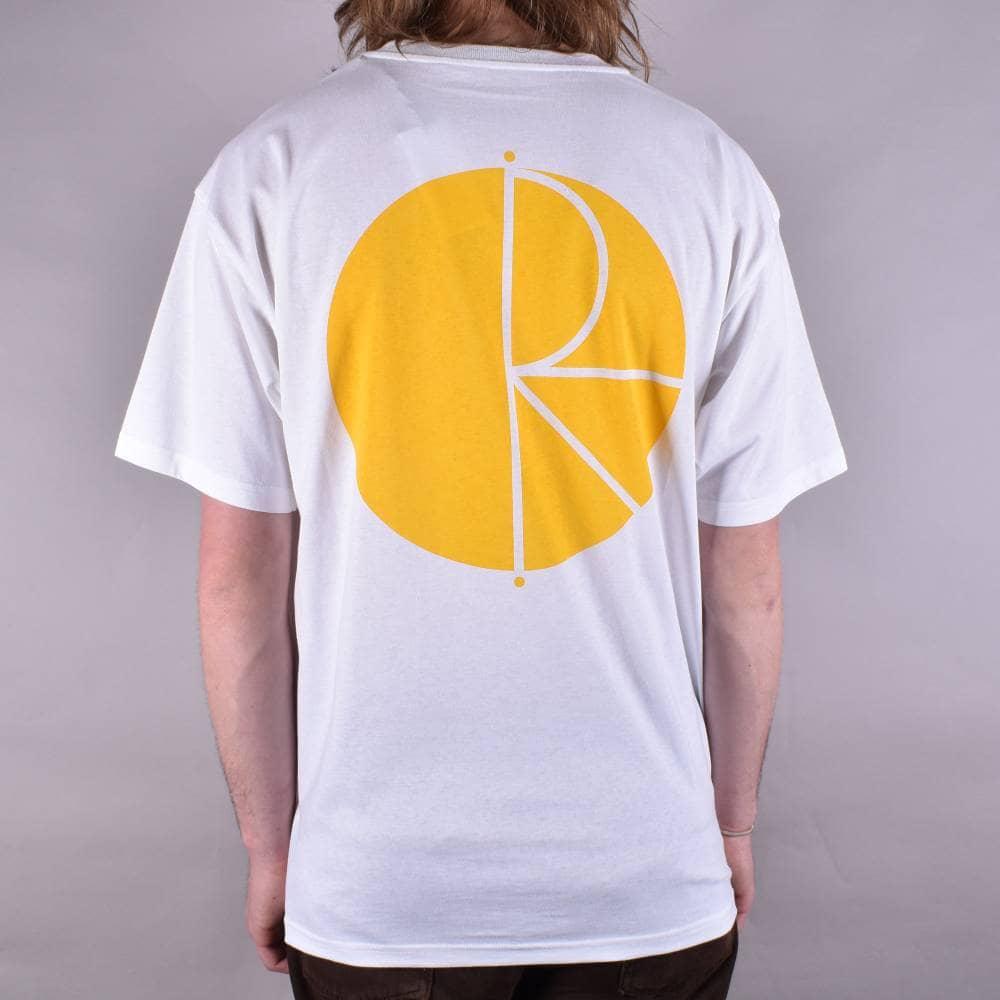 79ddf074 Polar Skateboards Fill Logo Skate T-Shirt - White/Yellow - SKATE ...
