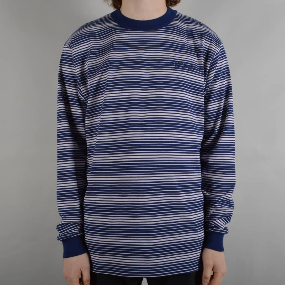 81573a9943 Polar Skateboards Gradient Striped Longsleeve T-Shirt - Navy/Pale ...