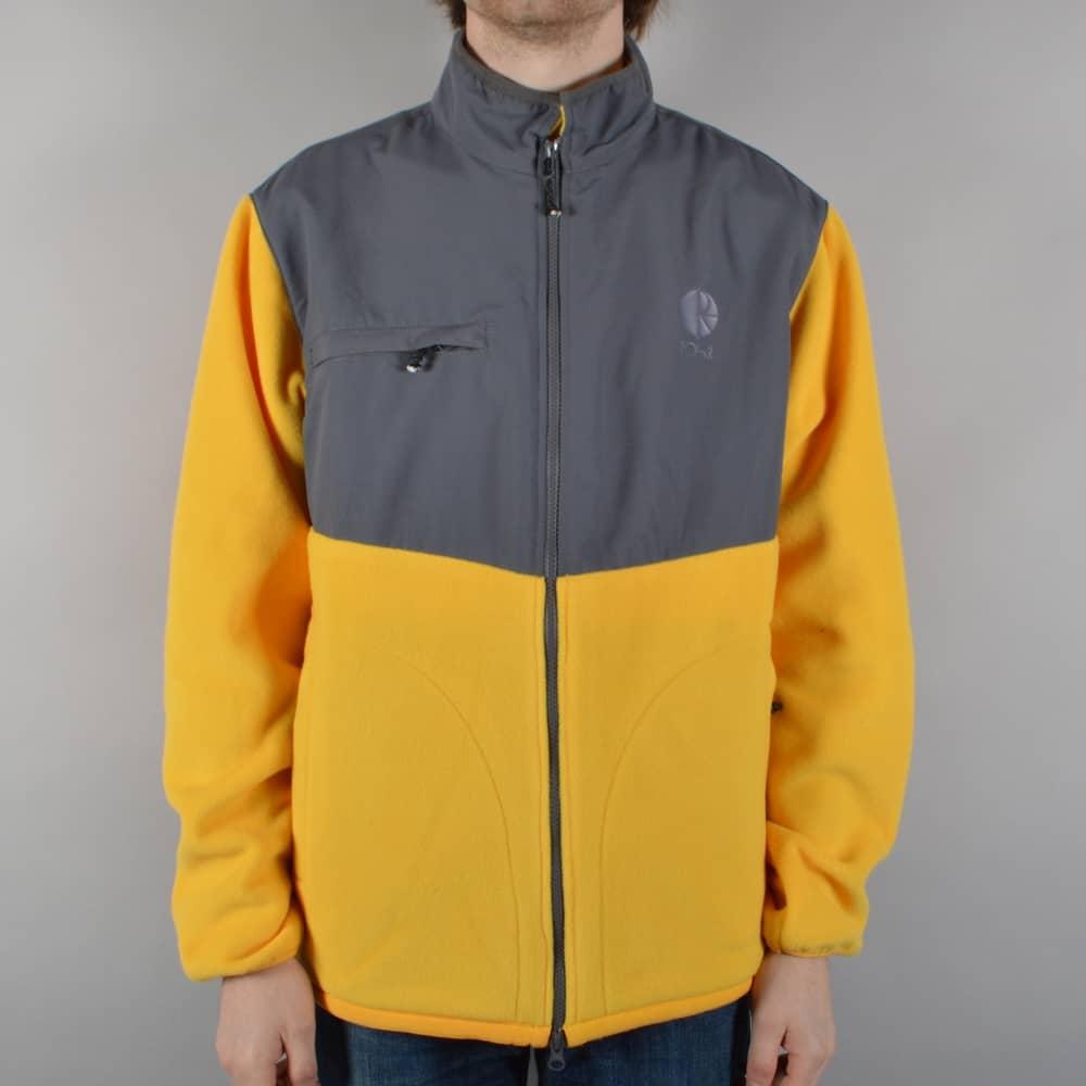 Polar Skateboards Halberg Fleece Jacket - Graphite/Yellow - SKATE ...