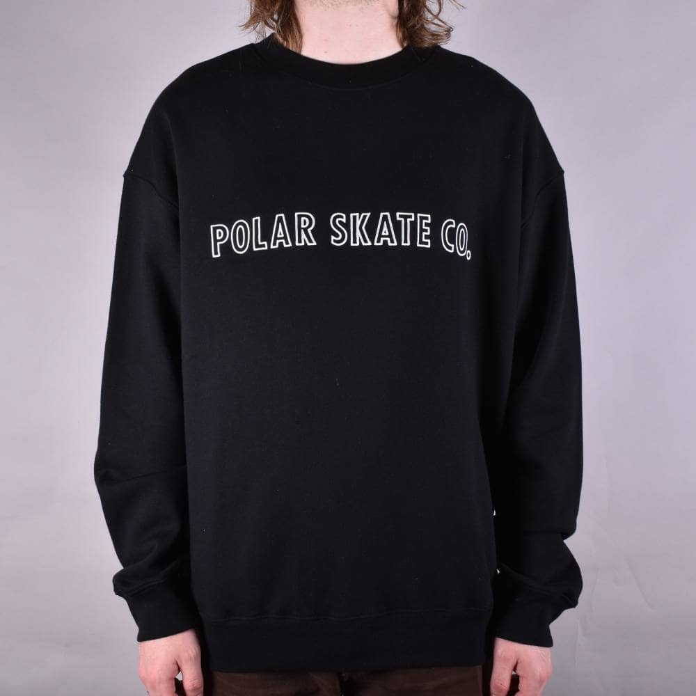 Polar Skateboards Outline Crewneck Sweater Black
