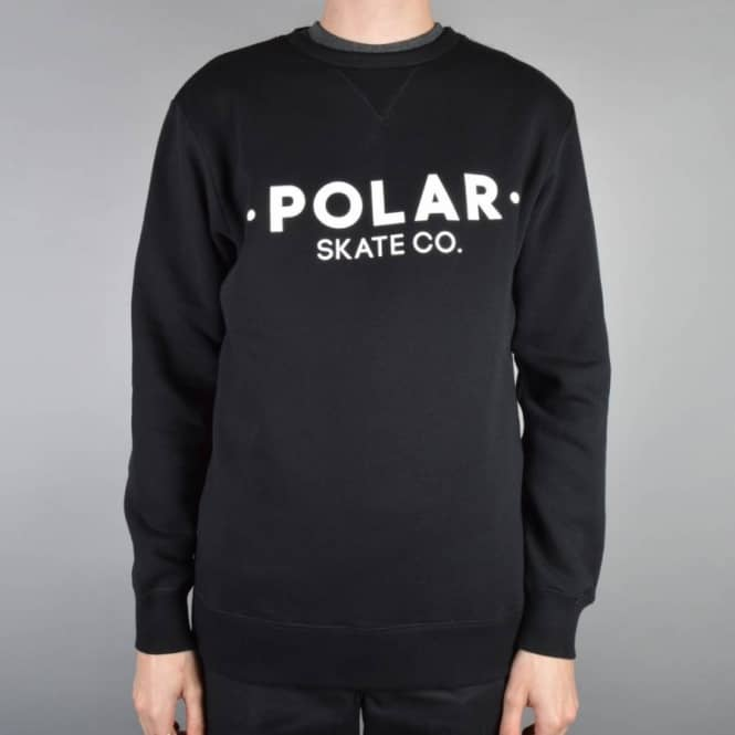 Polar Skateboards Polar Default Sweatshirt - Black/White
