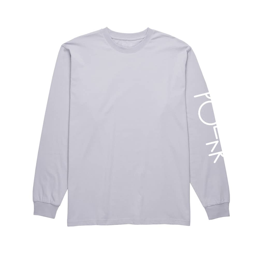 3566d955b62f Polar Skateboards Script Logo Longsleeve T-Shirt - Dusty Lavender ...