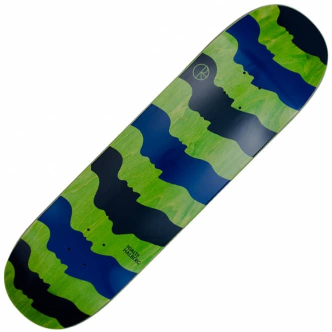 Polar Skateboards Some Noses Are Bigger Than Others Green Stain Skateboard Deck 8.125
