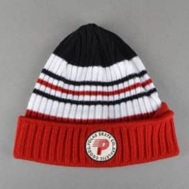 Polar Skateboards Stripe Beanie - Red