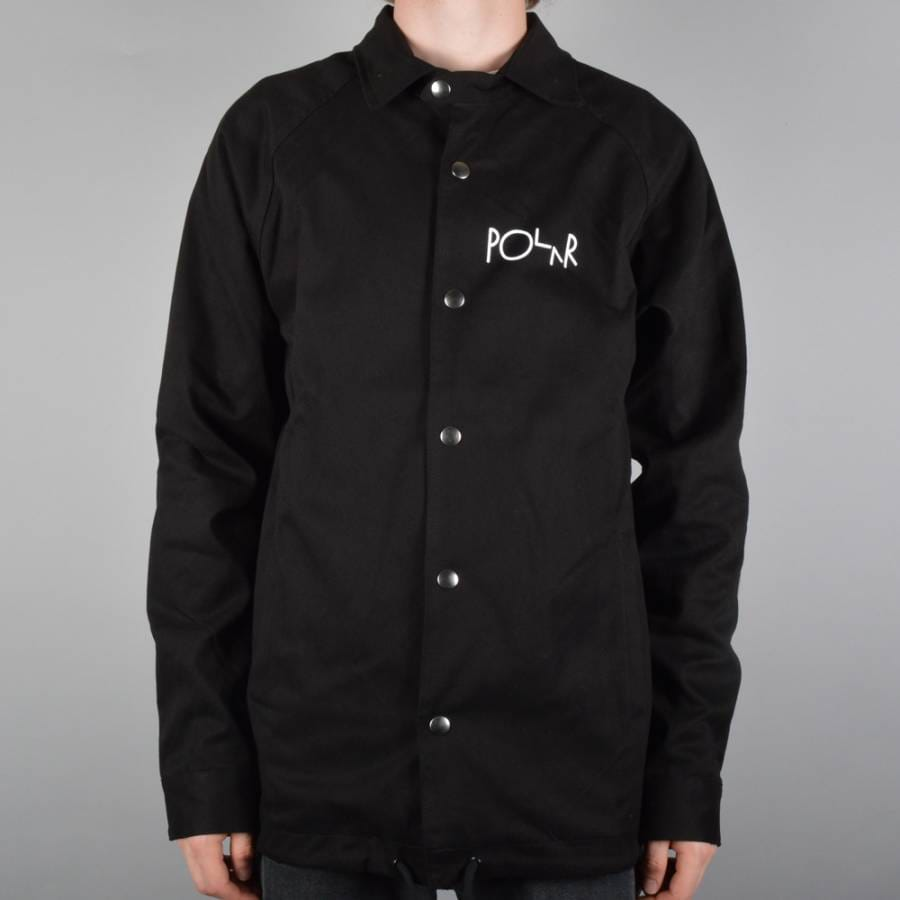 Polar skateboards stroke logo coach jacket black polar for Coach jacket