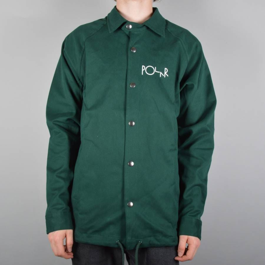 Polar skateboards stroke logo coach jacket green polar for Coach jacket