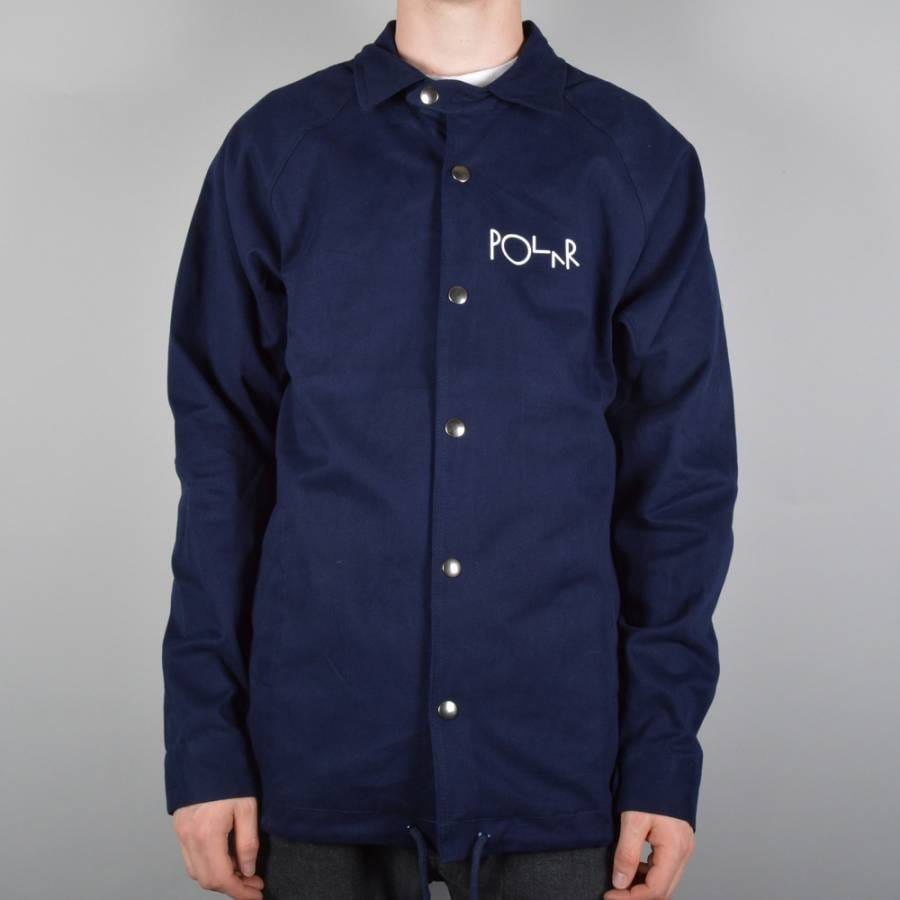 Polar skateboards stroke logo coach jacket navy polar for Coach jacket